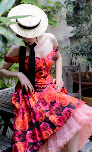 Robe Duchesse d'York. Flamenco