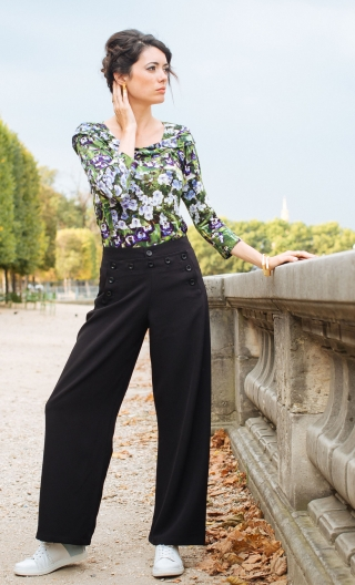 Pantalon Anton. Black Chic. Noir