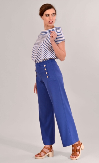 Pantalon Edmond. Pretty Woman. Bleu