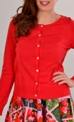 Cardigan Lucy Sweety Rouge, soft and a little warm thanks to the cotton-silk blend