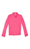 ChemiseAbbey Road Basiques Raffinés pink, Plain jersey shirt, fitted, pointed collar, long sleeve with wrist. Seventies
