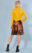 Skirt Mirabelle in Verlaine print, trapeze, just above the knee, zipped back.